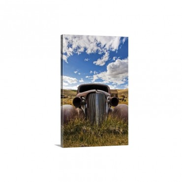 An Old Abandoned Car Rusts Away In The Ghost Town Of Bodie CA Wall Art - Canvas - Gallery Wrap