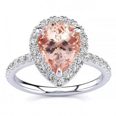Anastasia Morganite Ring - White Gold