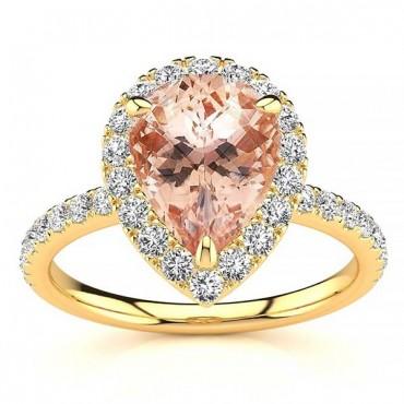 Anastasia Morganite Ring - Yellow Gold