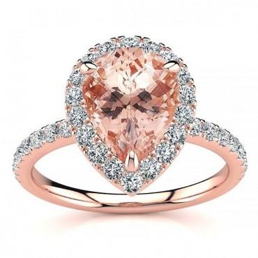 Anastasia Morganite Ring - Rose Gold