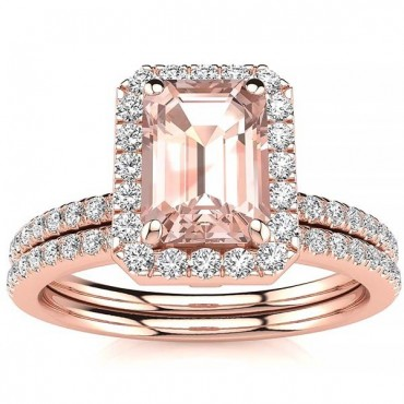 Andrea Morganite Set - Rose Gold