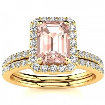 Andrea Morganite Set - Yellow Gold