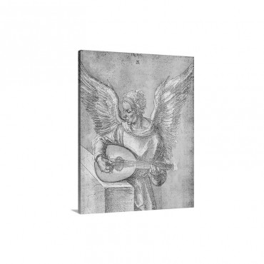 Angel With Lute Wall Art - Canvas - Gallery Wrap