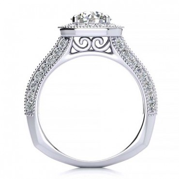 Angela Moissanite Ring - White Gold
