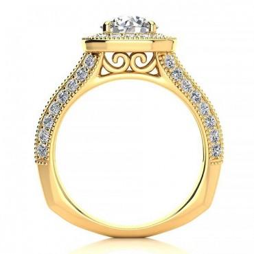 Angela Moissanite Ring - Yellow Gold