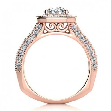 Angela Moissanite Ring - Rose Gold