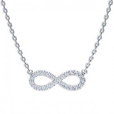 Anna Diamond Necklace - White Gold