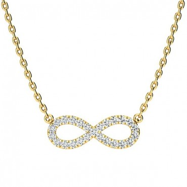 Anna Diamond Necklace - Yellow Gold