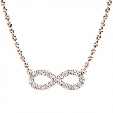 Anna Diamond Necklace - Rose Gold