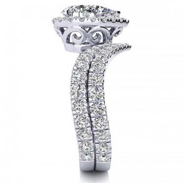 Anna Moissanite Ring - White Gold