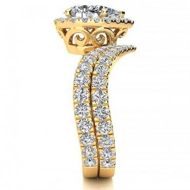 Anna Moissanite Ring - Yellow Gold