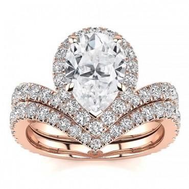 Anna Moissanite Ring - Rose Gold