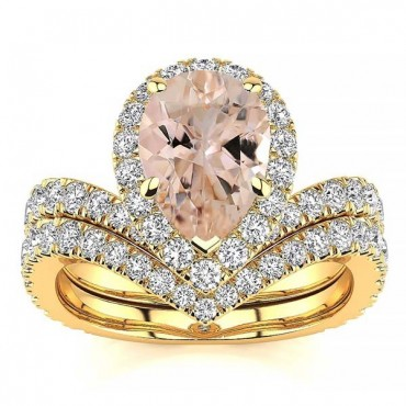 Anna Morganite Ring - Yellow Gold