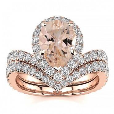 Anna Morganite Ring - Rose Gold