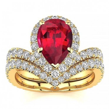 Anna Ruby Ring - Yellow Gold