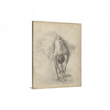 Antique Ballerina Study I Wall Art - Canvas - Gallery Wrap