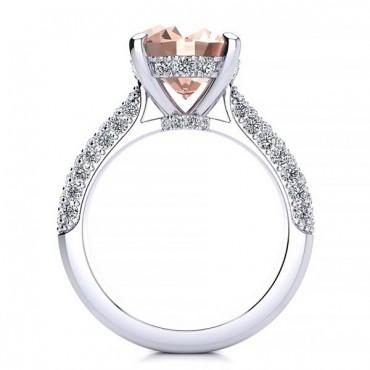 Anye Morganite Ring - White Gold