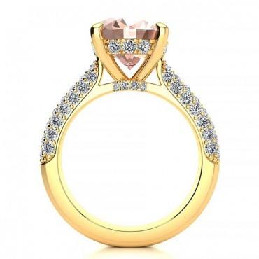 Anye Morganite Ring - Yellow Gold