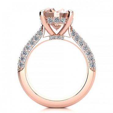Anye Morganite Ring - Rose Gold