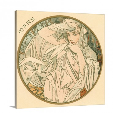 Art Nouveau Mars March Wall Art - Canvas - Gallery Wrap