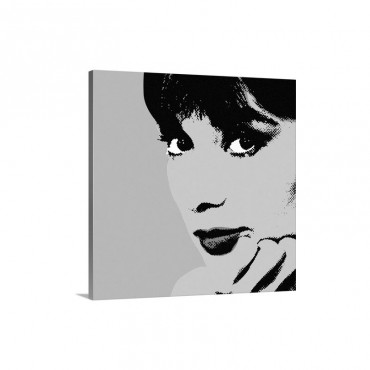 Audrey Hepburn Blue Dots Wall Art - Canvas - Gallery Wrap