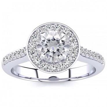 Ava Moissanite Ring - White Gold