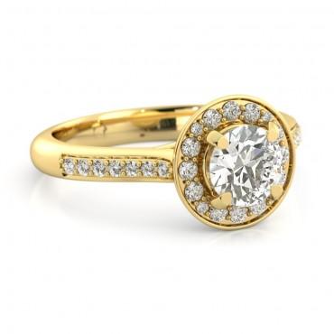 Ava Moissanite Ring - Yellow Gold