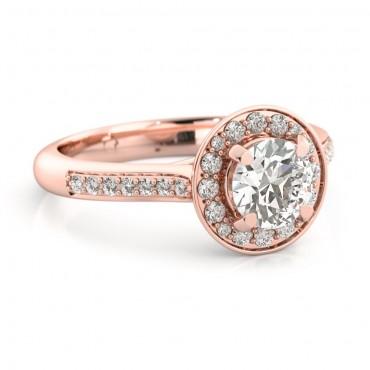 Ava Moissanite Ring - Rose Gold