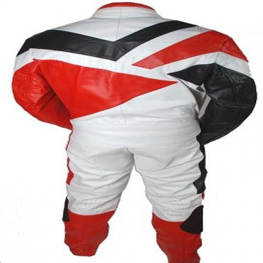 2 Piece Motorcycle Riding Racing Track Suit with padding All Leather Drag Suit Red