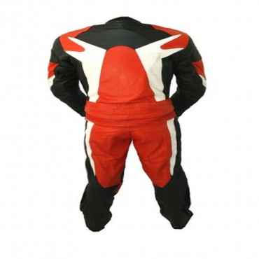 2 Piece Motorcycle Racing Leather Suit with Hard Padding