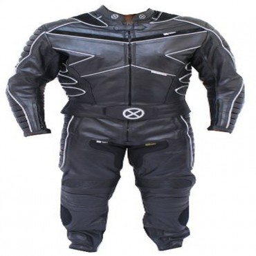 2 Piece X-MEN Motorcycle leather Racing Riding Track Suit CE Armor New with Padding