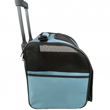 Wheeled Airline Approved Travel Pet Carrier - Blue