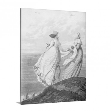 Bathing Place From Gallery Of Fashion 1797 Wall Art - Canvas - Gallery Wrap