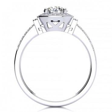 Beatriz Moissanite Ring - White Gold