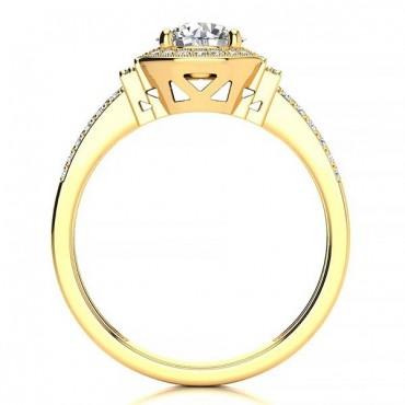 Beatriz Moissanite Ring - Yellow Gold