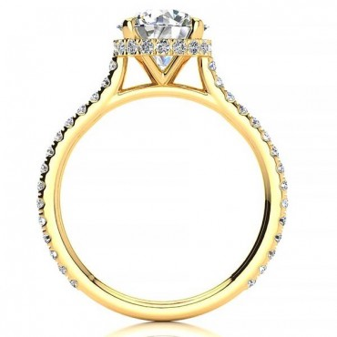 Becky Moissanite Ring - Yellow Gold