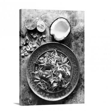 Beef Salad With Coconut And Peanuts Wall Art - Canvas - Gallery Wrap