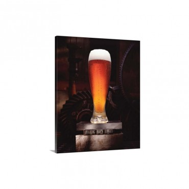 Beer On Sign Reading Working Mans Reward Wall Art - Canvas - Gallery Wrap