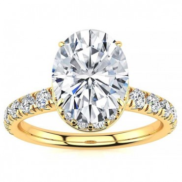 Bethany Moissanite Ring - Yellow Gold