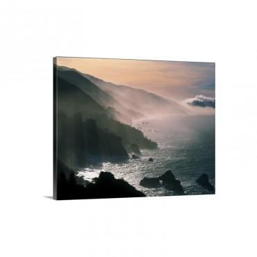 Big Sur Coastline CA Wall Art - Canvas - Gallery Wrap