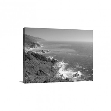 Big Sur Coast Near Grimes Point California Wall Art - Canvas - Gallery Wrap