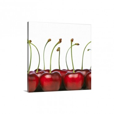 Big Ripe And Red Cherries Wall Art - Canvas - Gallery Wrap