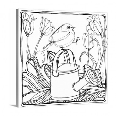 Bird And Watering Can