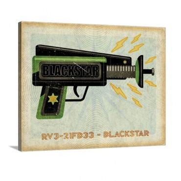 Blackstar Ray Gun Wall Art - Canvas - Gallery Wrap