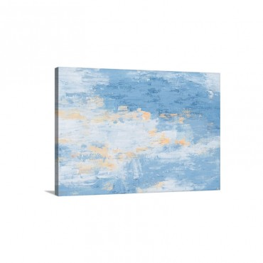 Blue White Oil Painting Wall Art - Canvas - Gallery Wrap