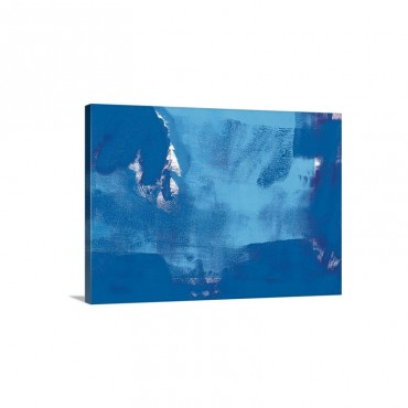 Blue Oil Painting Wall Art - Canvas - Gallery Wrap