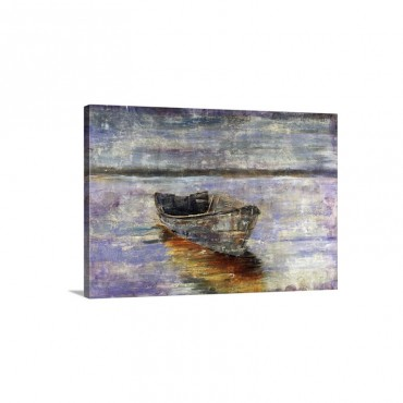 Boat By The Waters Edge Wall Art - Canvas - Gallery Wrap