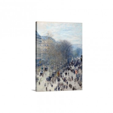 Boulevard Des Capucines By Claude Monet Wall Art - Canvas - Gallery Wrap