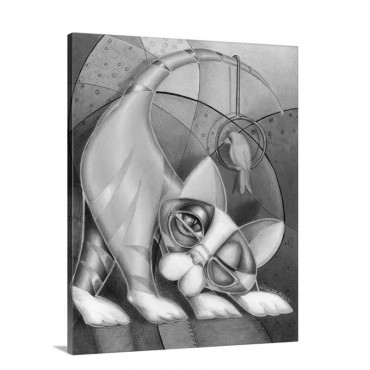 Brass Ring Kitty Wall Art - Canvas - Gallery Wrap
