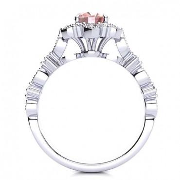 Brenda Morganite Ring - White Gold